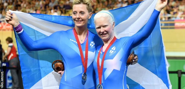 Aileen McGlynn (right) delivered Scotland's first medal of the Games