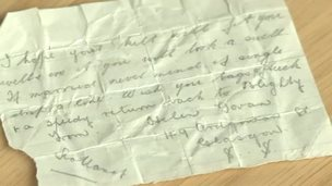 Note found in kilt