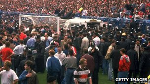 Hillsborough pitch scene