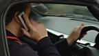 Driver on mobile phone