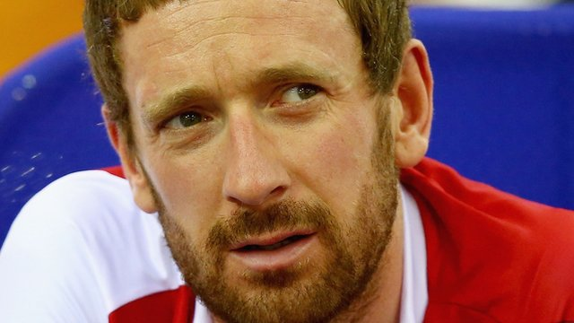 English cyclist Sir Bradley Wiggins at the 2014 Commonwealth Games in Glasgow
