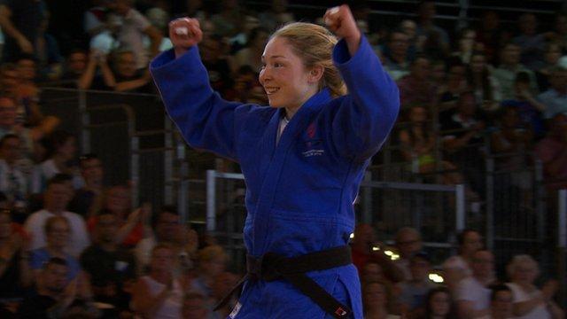 Northern Ireland's Lisa Kearney after winning bronze