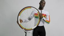 Jeddie Amoako-Ackah is the first Ghanaian to compete in track cycling at a Commonwealth Games.