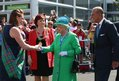 Shirley Addison greets the Queen and the Duke of Edinburgh