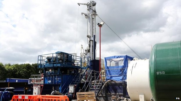 Cuadrilla exploration drilling site in Balcombe