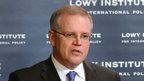 Australian Immigration Minister Scott Morrison  speaks on 9 May 2014