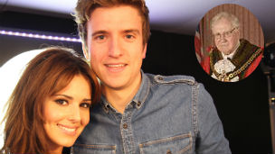 Greg James and Cheryl Cole and Wolverhampton mayor Michael Heap