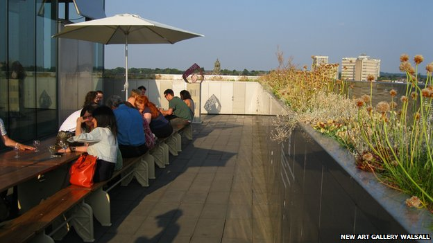 Walsall Art Gallery's roof garden