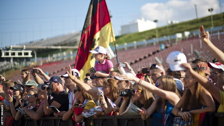 Fans at the Hungarian Grand Prix