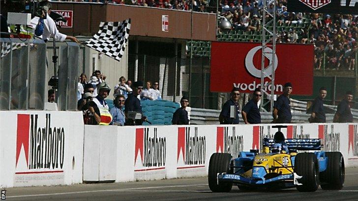 Fernando Alonso wins the 2003 Hungarian Grand Prix