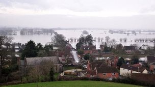 Somerset Levels under water