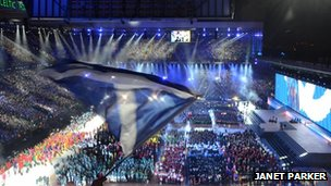 Picture of Glasgow 2014 opening ceremony
