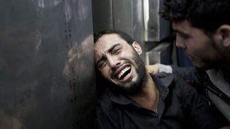 Mourner in Gaza