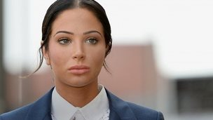 Tulisa Contostavlos arriving in court