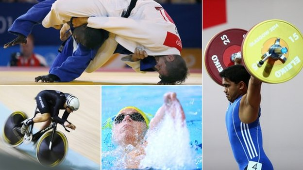 Cycling, swimming, weightlifting and judo