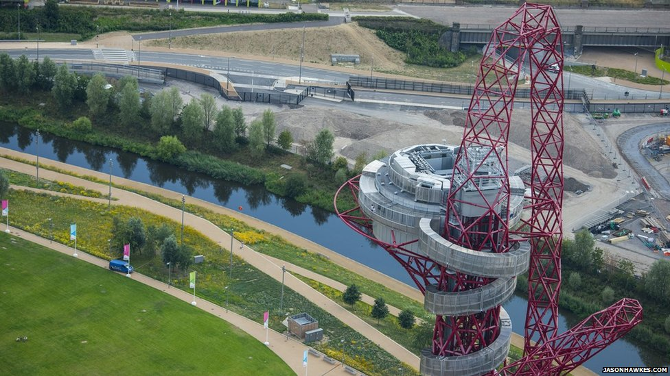 The ArcelorMittal Orbit has two viewing platforms providing amazing views of the park and London.