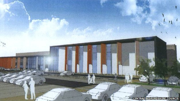 Artist's impression of new leisure centre