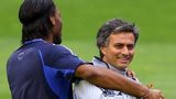 Didier Drogba and Jose Mourinho at Chelsea