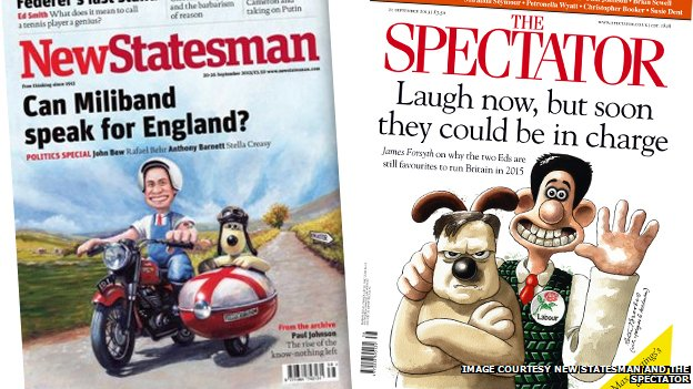 New Statesman and Spectator covers