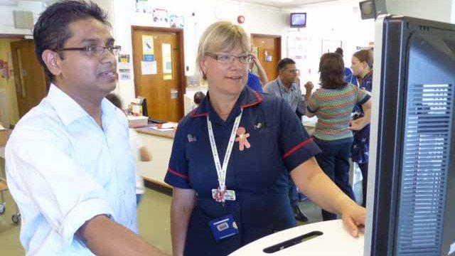 Basildon Hospital staff