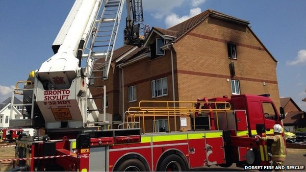 Flat fire in Church Road in Southbourne