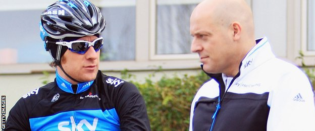 Sir Bradley Wiggins and Sir Dave Brailsford in conversation