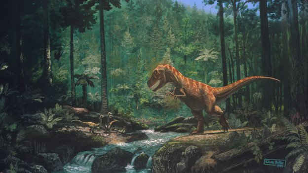 _76522424_tyrannosaurus_seen_in_a_forest
