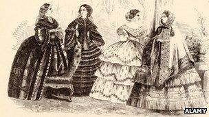 Victorian ladies illustration