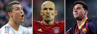 Ronaldo, Robben and Messi_Getty