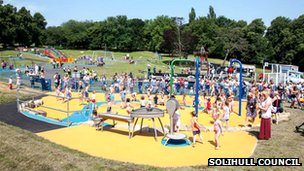 New splashpad in West Brom