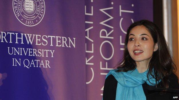 Roxana Saberi in Doha (2010)