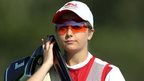 England's Amber Hill in action in the women's skeet in Carnoustie