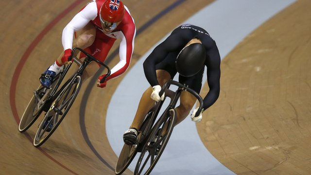 Glasgow 2014: Sam Webster pips Jason Kenny to sprint gold