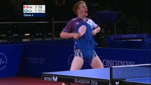 Gavin Rumgay celebrates with a wedgie