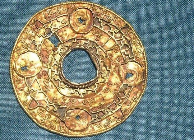 Anglo-Saxon brooch from Sutton Hoo