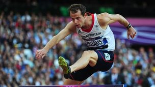 Rhys Williams in action at the London 2012 Olympics
