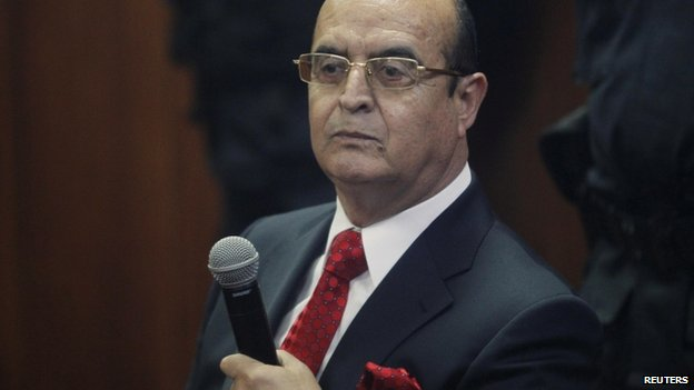 Vladimiro Montesinos in court in Lima, 6 June 2014