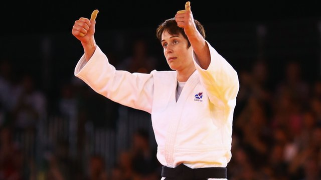 Scottish judo player Sarah Clark