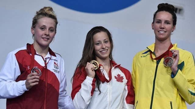 Siobhan O'Connor takes silver in 100m butterfly