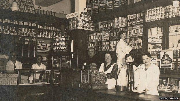Interior of the original Albrecht family shop