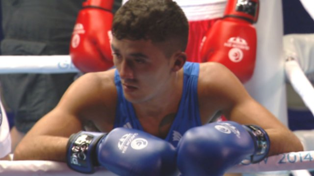 Andrew Selby has issues with his mouth guard
