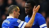 Leon Osman and Romelu Lukaku