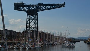 Flotilla boats mustered at Greenock