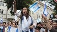 Pro-Israel demonstrators shout slogans while protesting in Berlin - 25 July 2014