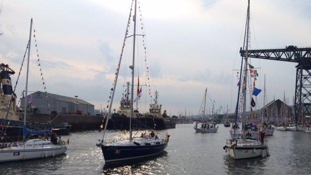 Flotilla boats at Greenock