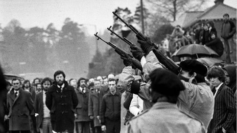 The funeral of Bobby Sands in May 1981