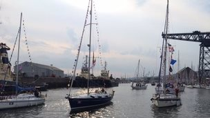 Flotilla boats at Greenock