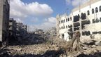 Destroyed buildings inside the Gaza City neighbourhood of Shejaiya