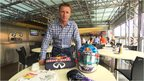 Allan McNish with Reb Bull race suits