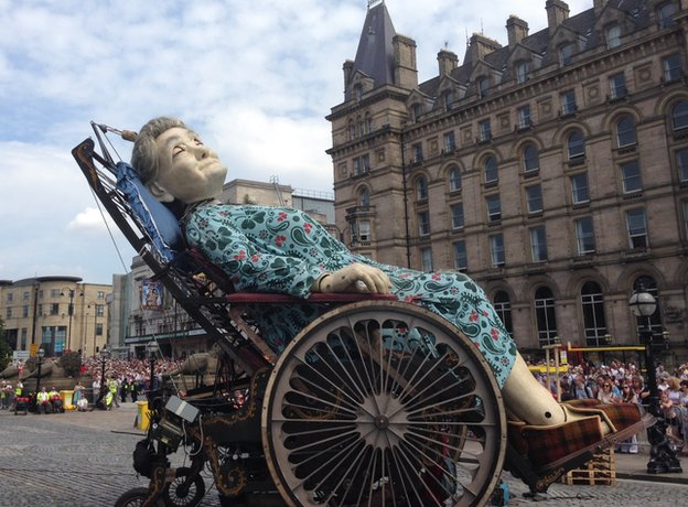 Grandma giant asleep on St George's plateau